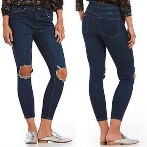 Free People Busted Skinny Jeans High Waisted SZ 30